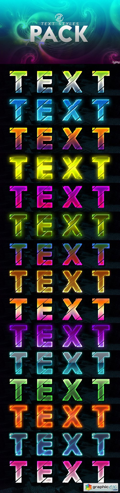 15 Text Styles Pack for Photoshop