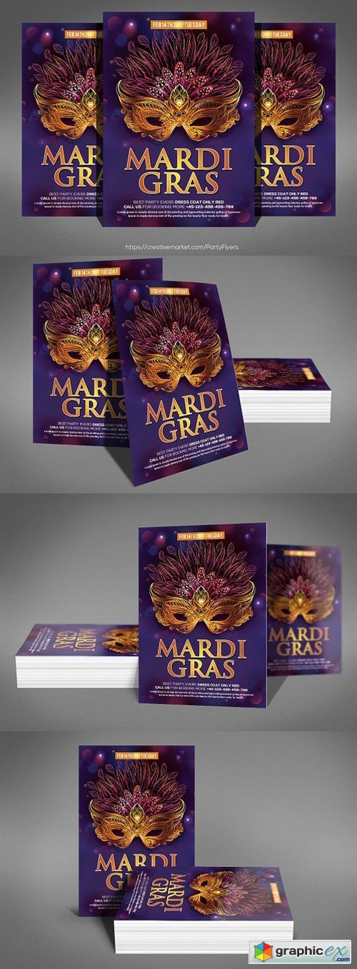 Mardi Grass | Party Flyer Template