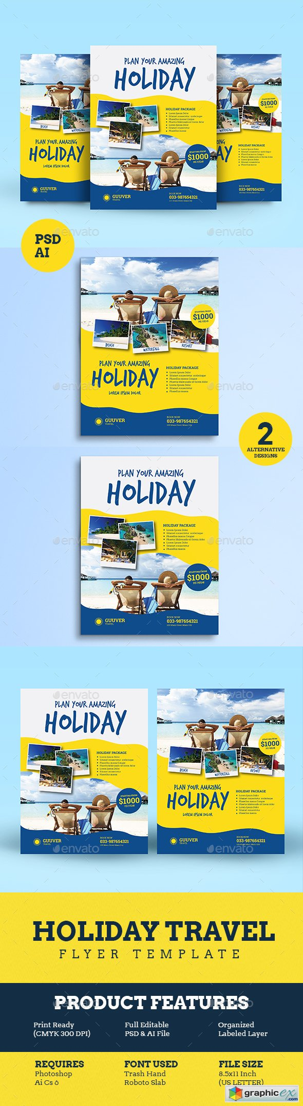 Holiday Travel Flyer Vol 02