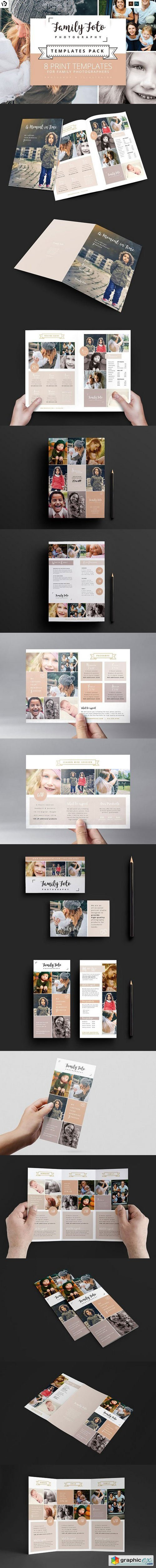 Family Photographer Templates Pack