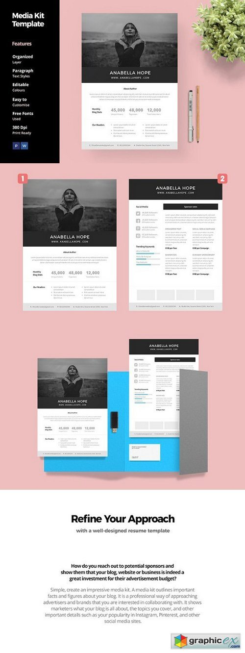 Media Kit Template for Blogger
