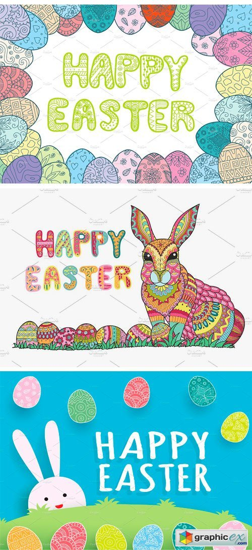 Happy Easter Eoloring Page