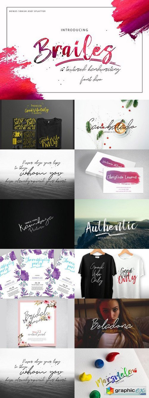 Thehungryjpeg - Brailes Font Duo + Swash and Splatter 65528