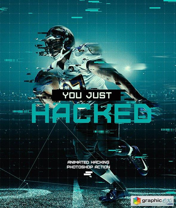 gif animated hacking photoshop action  u00bb free download