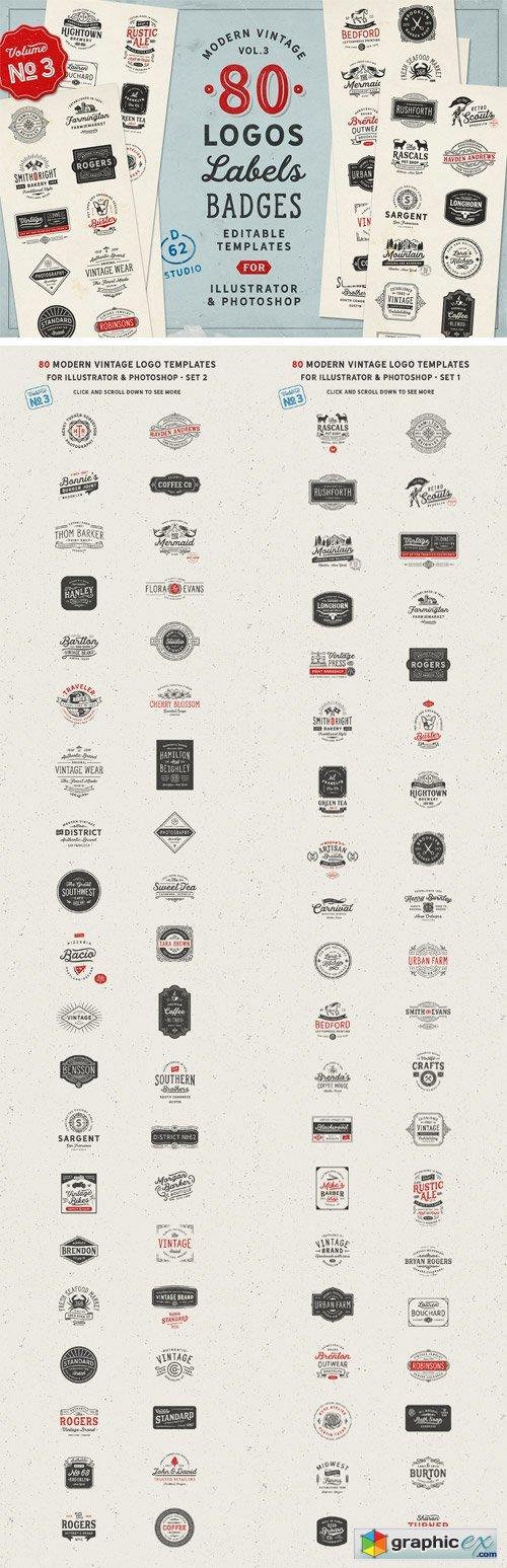 80 Modern Vintage Logos vol 3 » Free Download Vector Stock