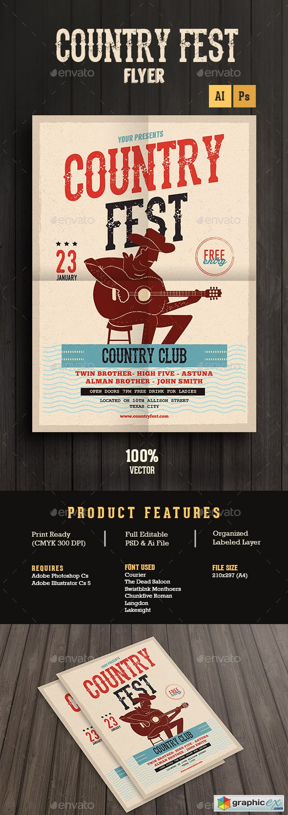 Country music poster template free
