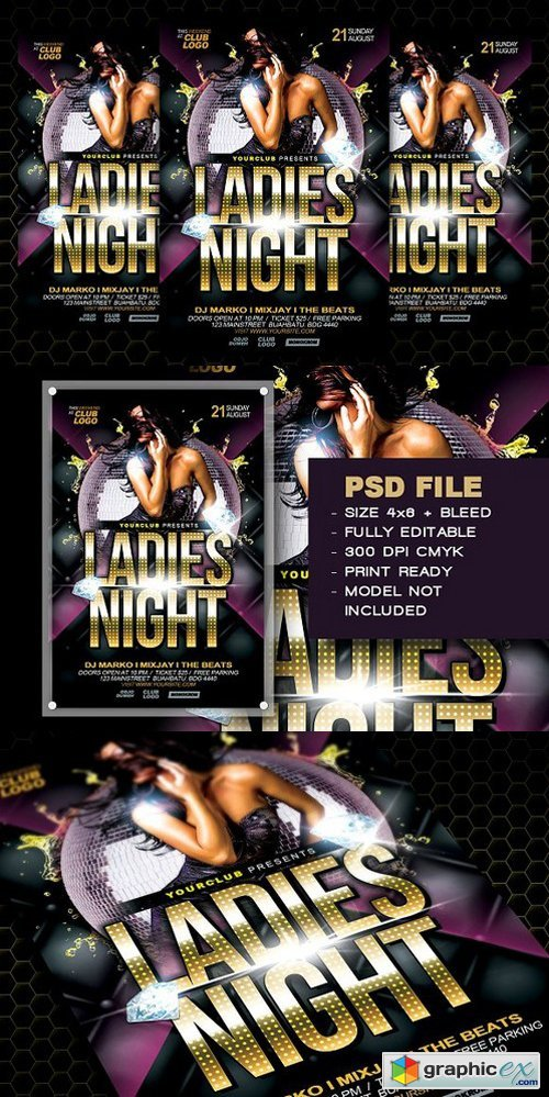 Ladies Night Flyer Template 1410939