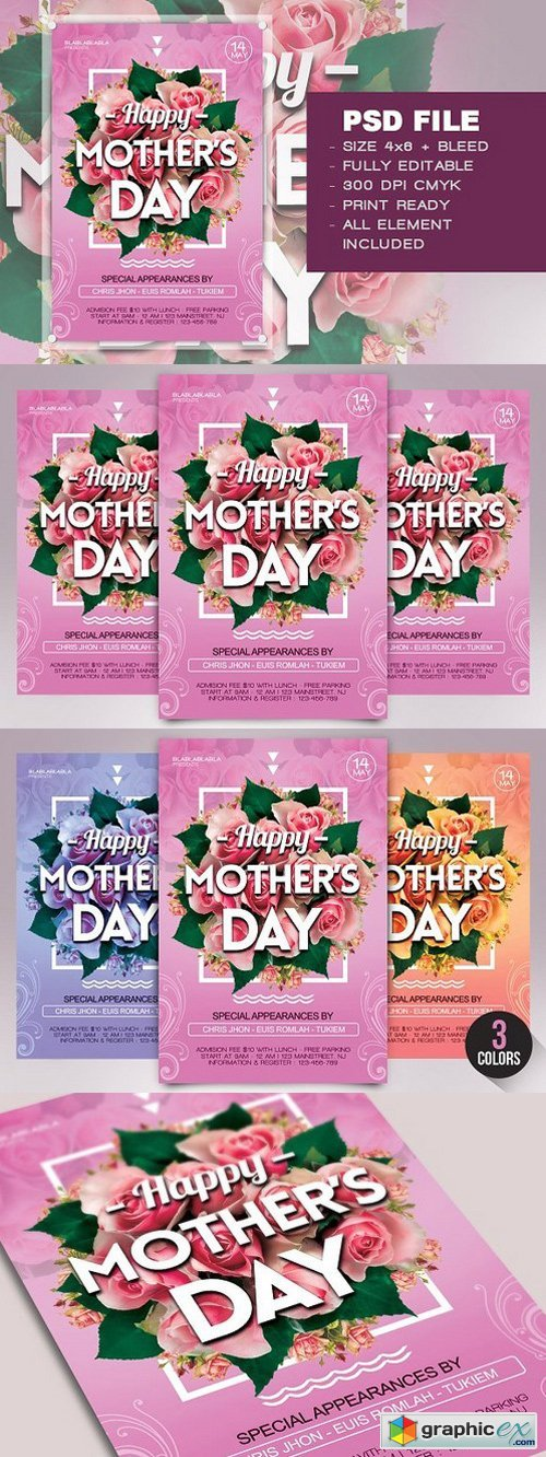 Mother's Day Flyer Template 1411009