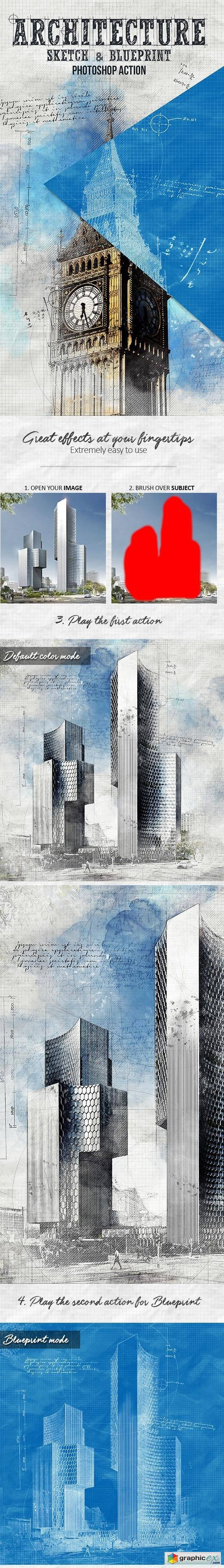 Architecture sketch and blueprint photoshop action free download architecture sketch and blueprint photoshop action malvernweather Image collections