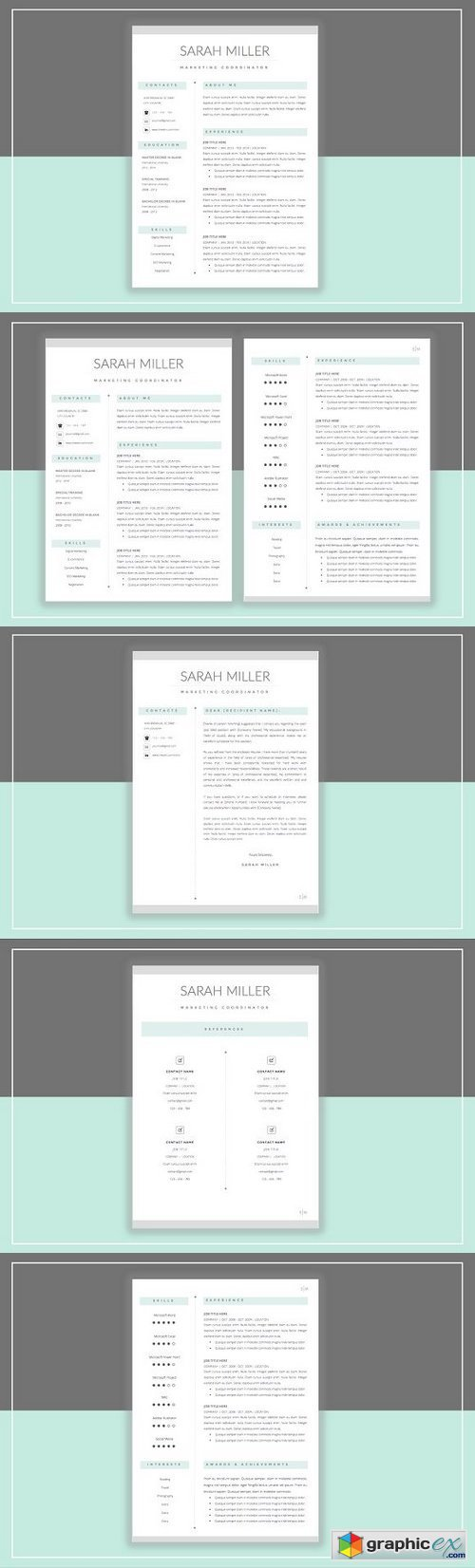 Resume Template & Cover Letter 359285
