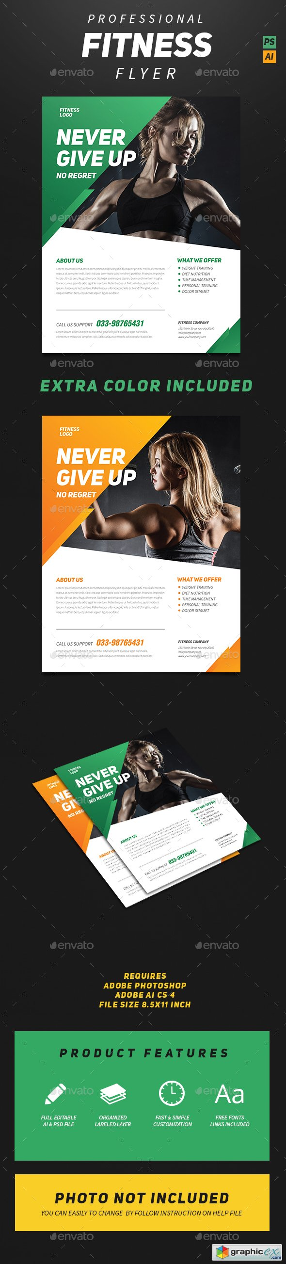 Professional Fitness Flyer 14059698
