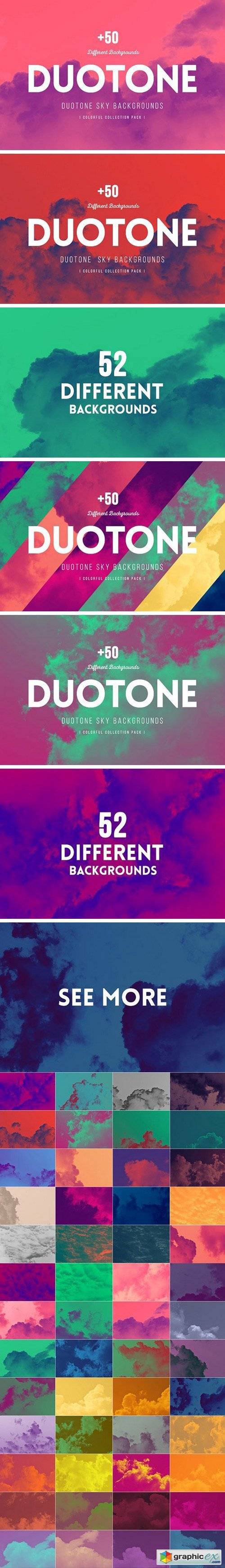 +50 Duotone SKY Backgrounds