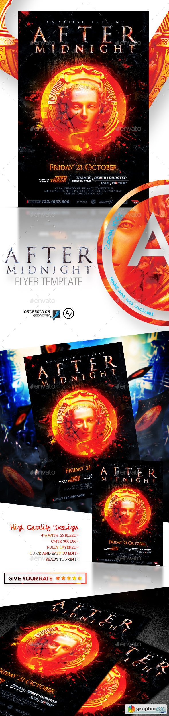 After Midnight Flyer Template