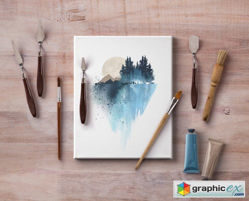 artistic psd art canvas mockup  u00bb free download vector stock image photoshop icon