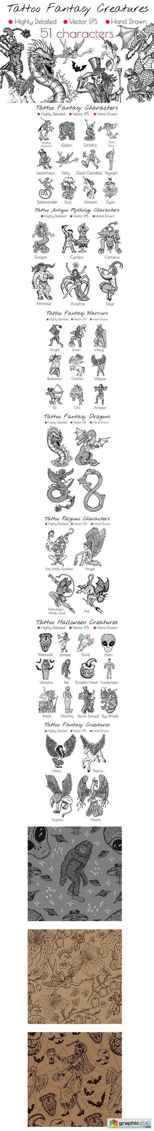 Tattoo Fantasy Characters
