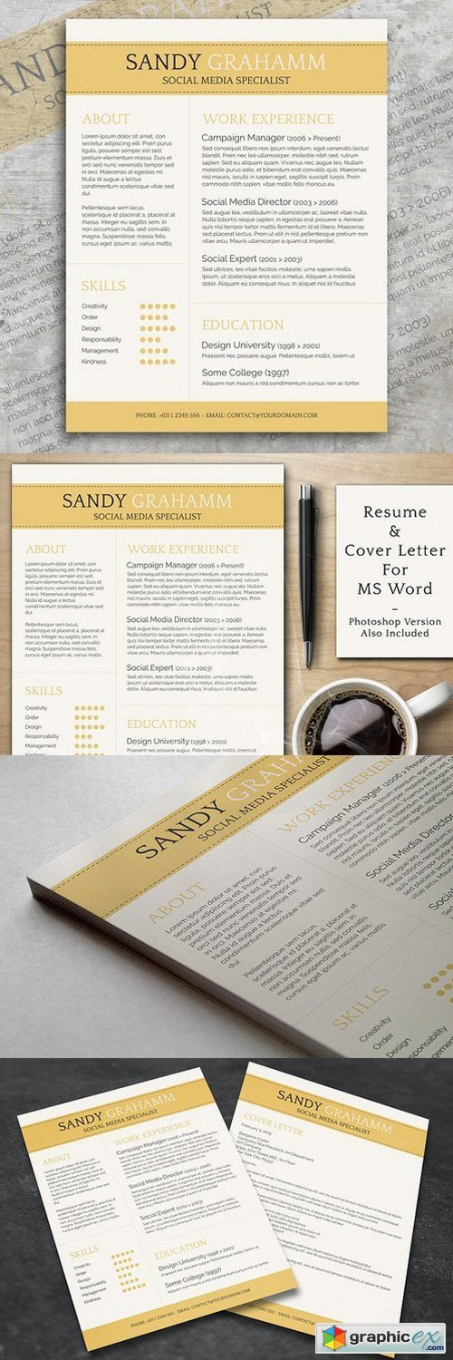 Professional CV + Cover Letter