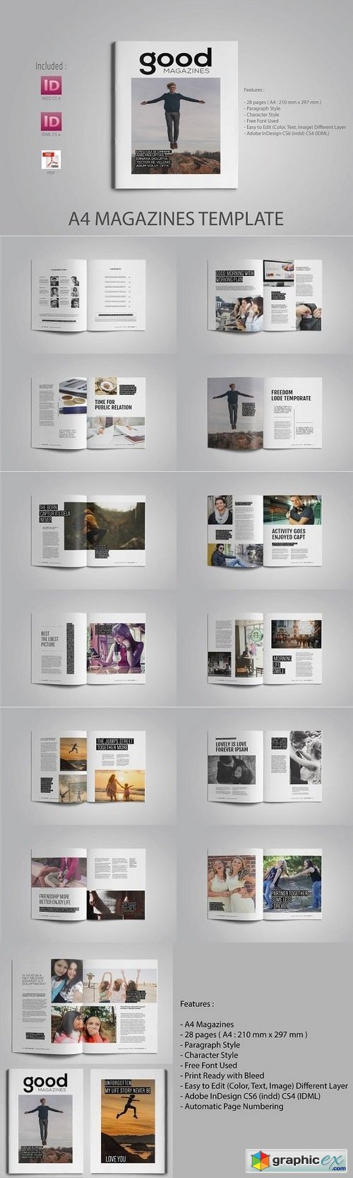 Fantastic Magazine Template Publisher Frieze - Examples Professional ...
