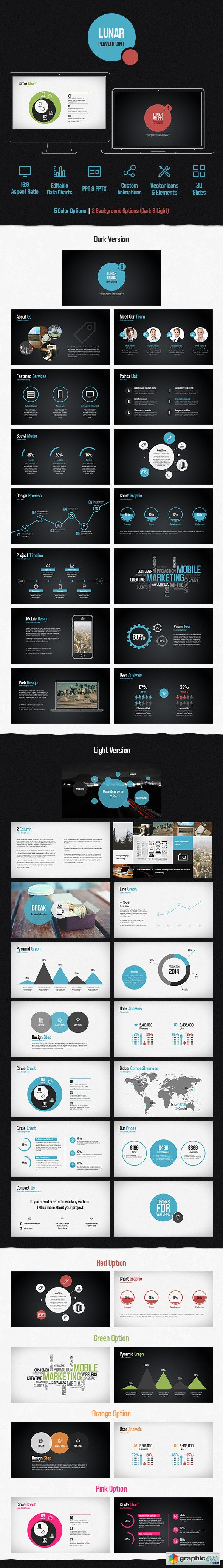Lunar Powerpoint Presentation Template