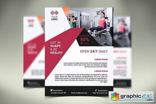 Fitness Flyer / Gym Flyer 1423099