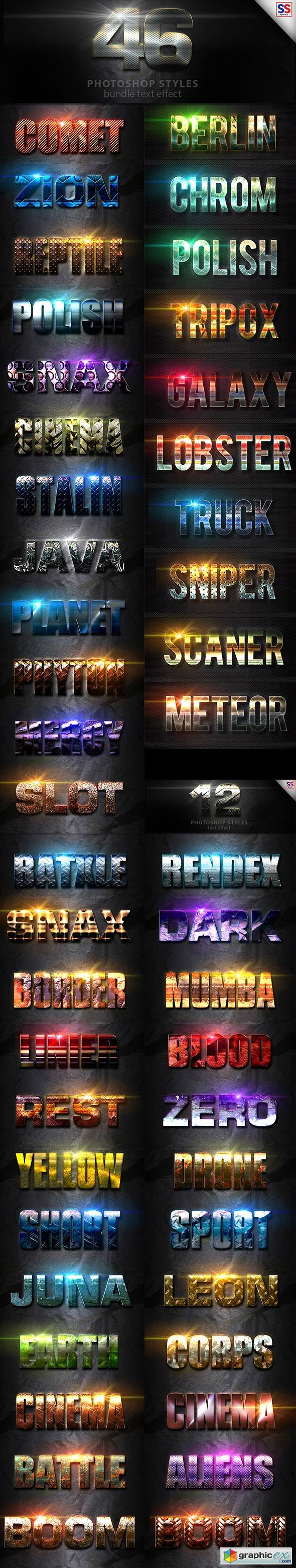 46 Text Effect Bundle Vol 1