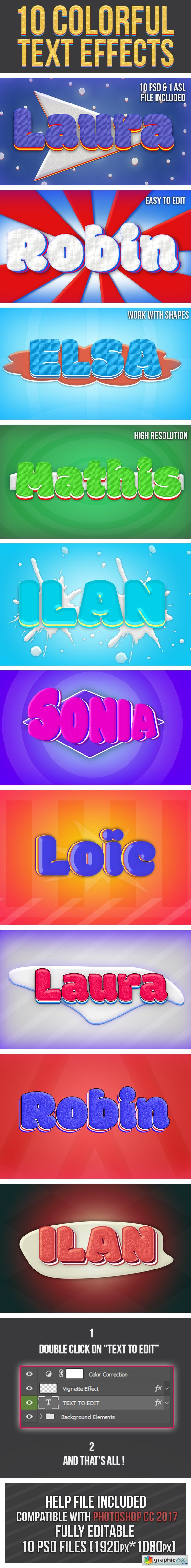Colorful Text Effects