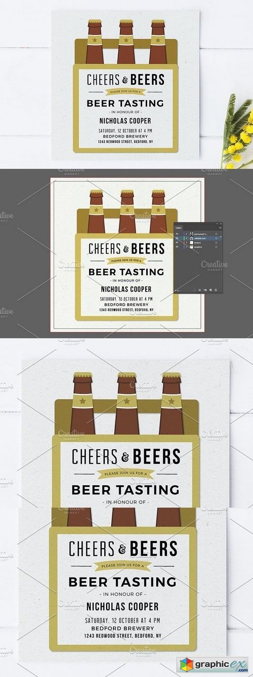 Beer Tasting Party Invitation