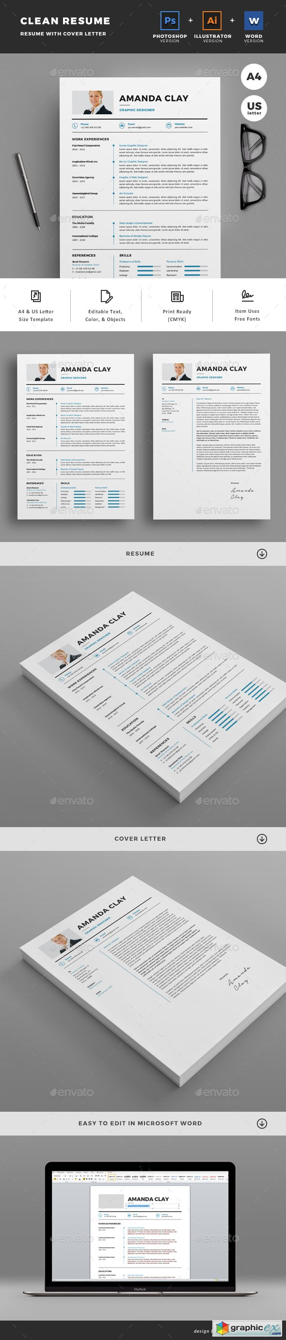 graphicriver resume 187 free vector stock image