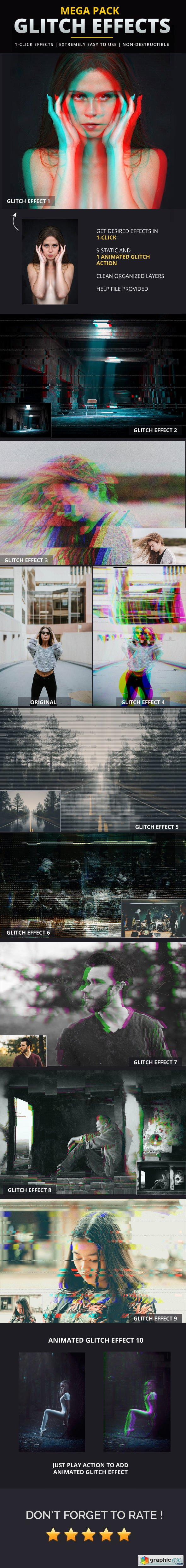 Graphicriver Glitch Effects Mega Pack
