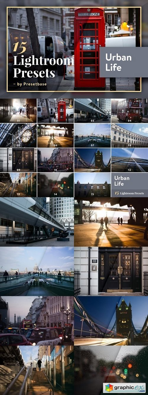 15 Lightroom Presets - Urban Life