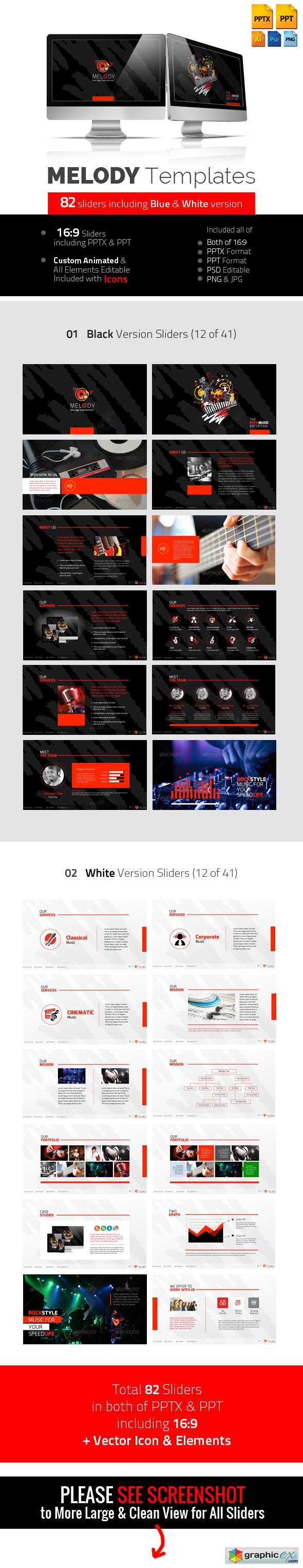 Melody Professional Multimedia Templates