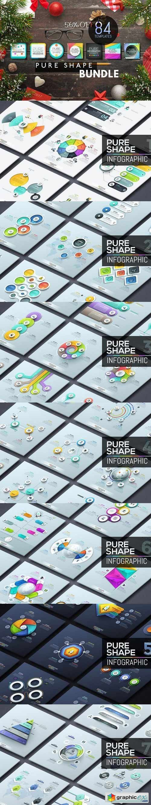 Pure Shape Infographic Bundle