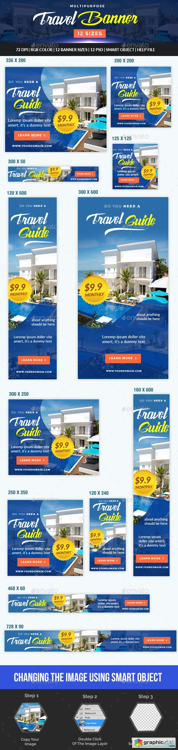 Multipurpose Travel and Hotel Banner