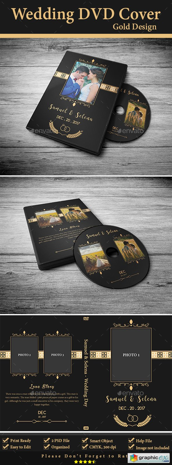 Wedding DVD Cover - Gold Design