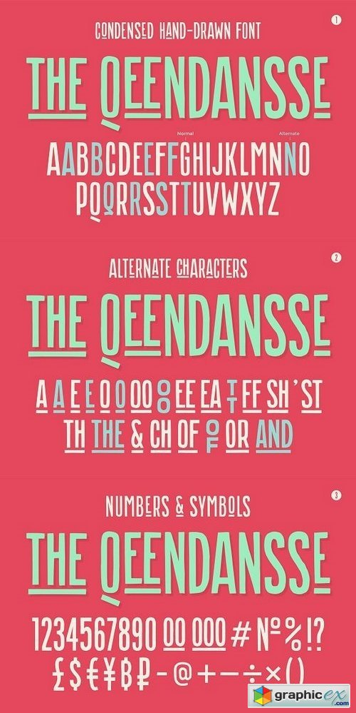 Hand-drawn font the Qeendansse