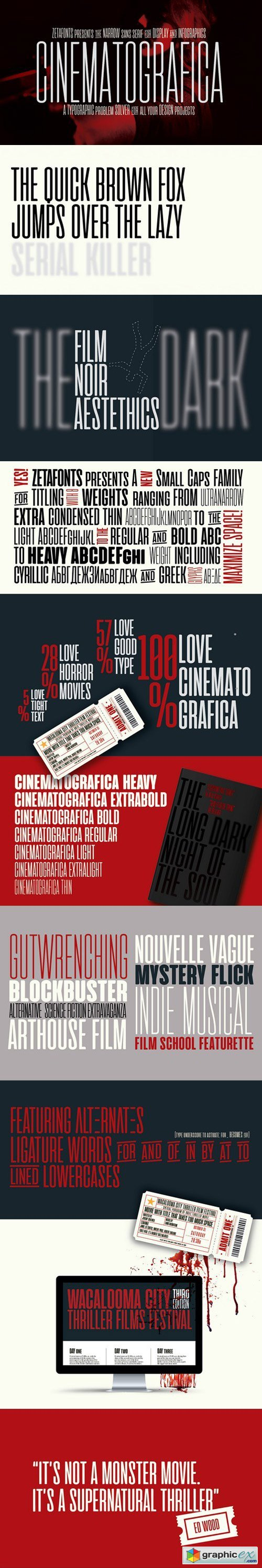CINEMATOGRAFICA THE MOVIE FONTS