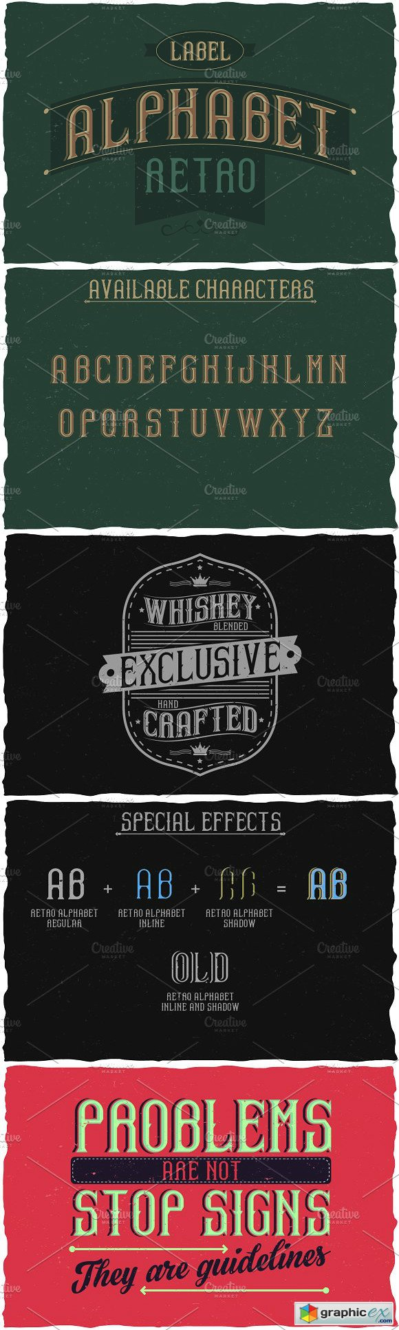 Retro Alphabet Label Typeface font