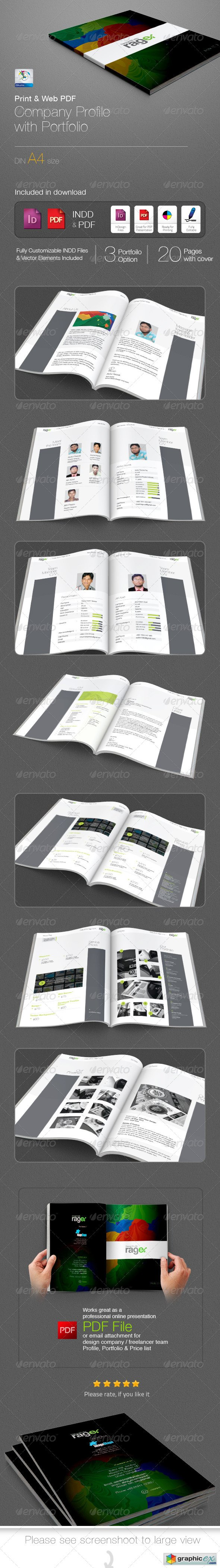 Company Profile with Portfolio Booklet