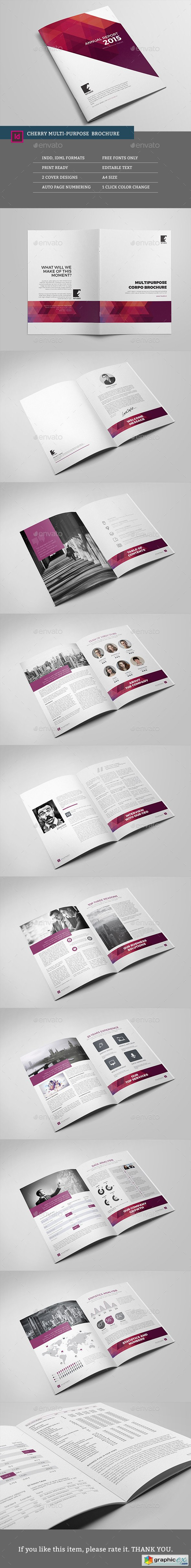 Cherry Multipurpose Brochure Template