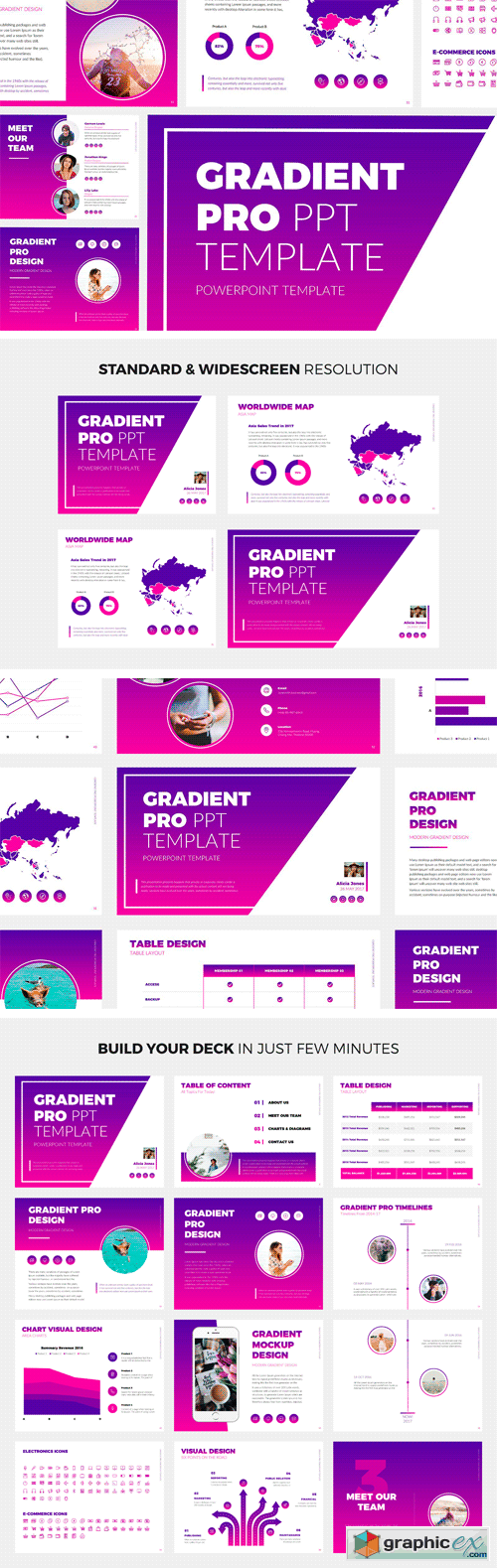 Gradient Pro PowerPoint Template » Free Download Vector Stock Image