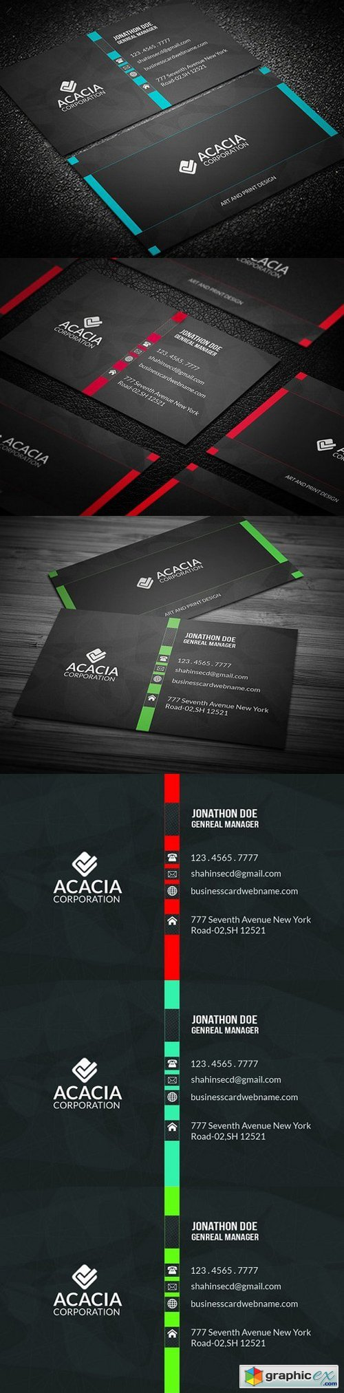Colorful Business Card 949910
