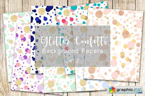 Glitter Confetti Background Papers 2