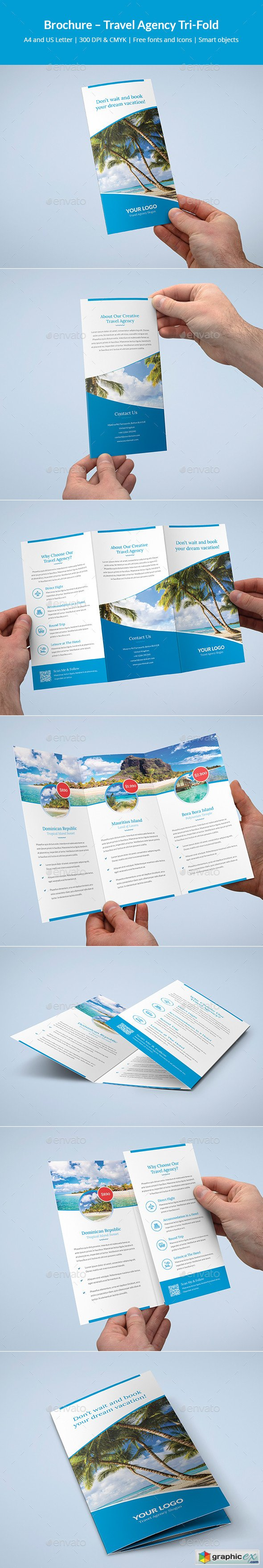 Brochure – Travel Agency Tri-Fold