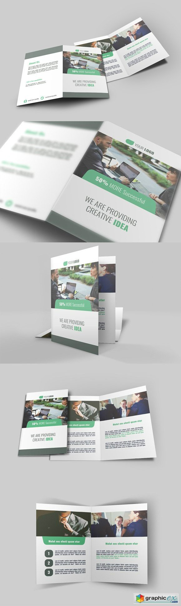 Business Bi Fold Brochure - v009