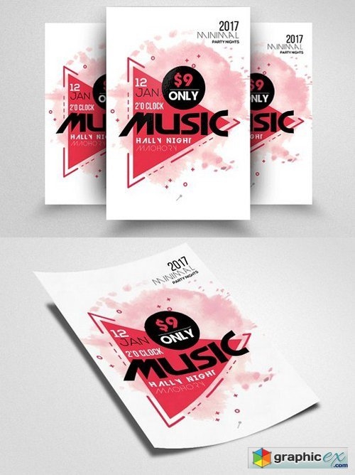 Futuristic/Music Flyer Template