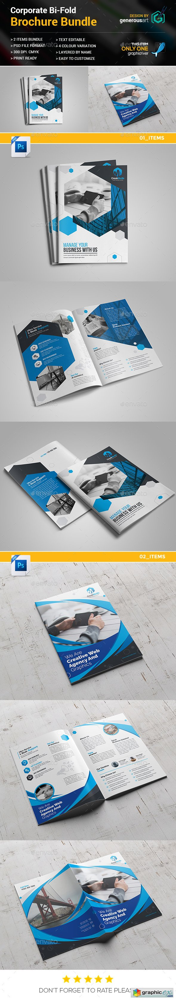Business Bi-Fold Brochure Bundle 2 in 1