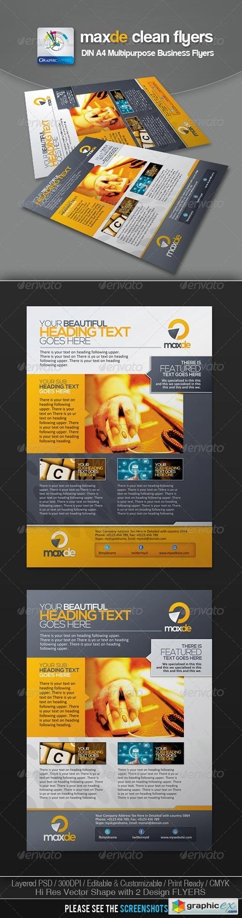 Maxde Clean Business Flyer/Ads 3072963