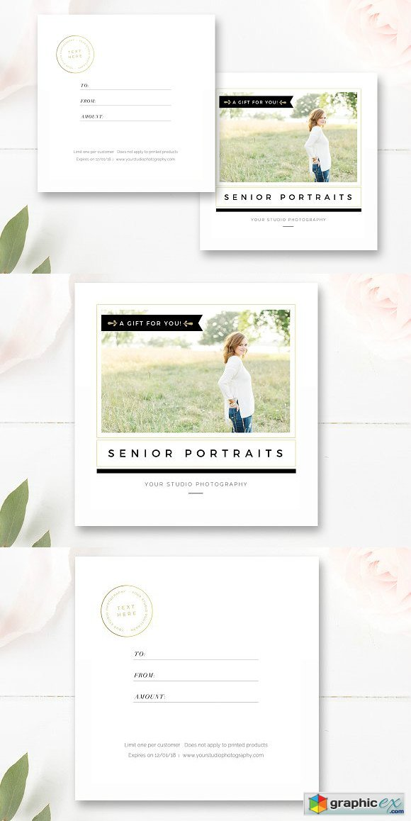 Photographer Gift Card Template