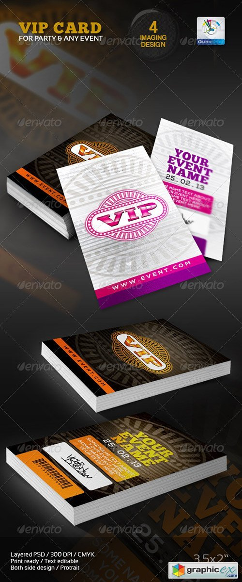 VIP Card/Pass Multipurpose usable