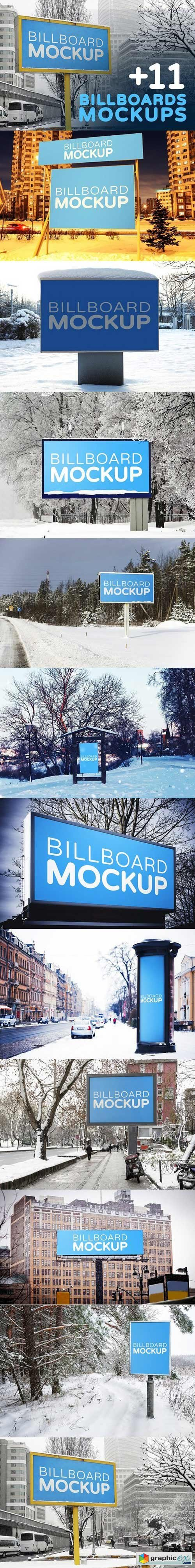 Billboards Mockups in Winter 1513362