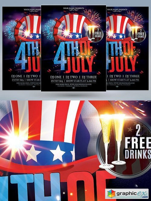 4th of July Flyer 1559733